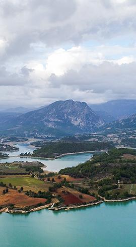 Yeşil ve Maviyi Buluşturan Manavgat Oymapınar Barajı
