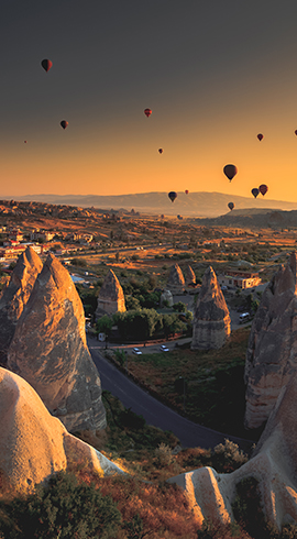 Included in the World Heritage List of UNESCO, Cappadocia
